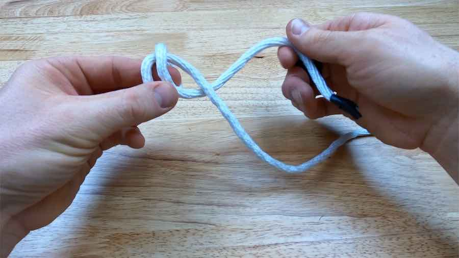 Double Barrel Knot Step 5