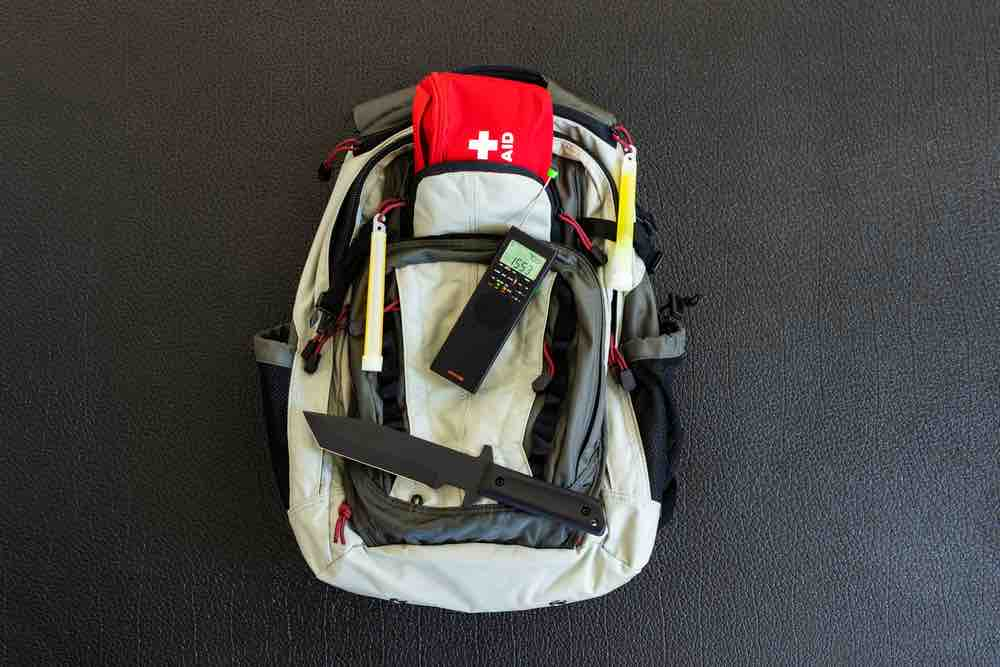 A survival backpack holds all the gear you might need during a natural disaster or emergency evacuation.