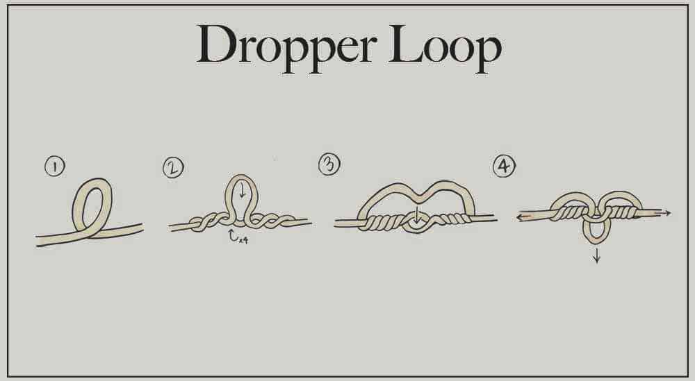 A step-by-step guide to tying a dropper loop.
