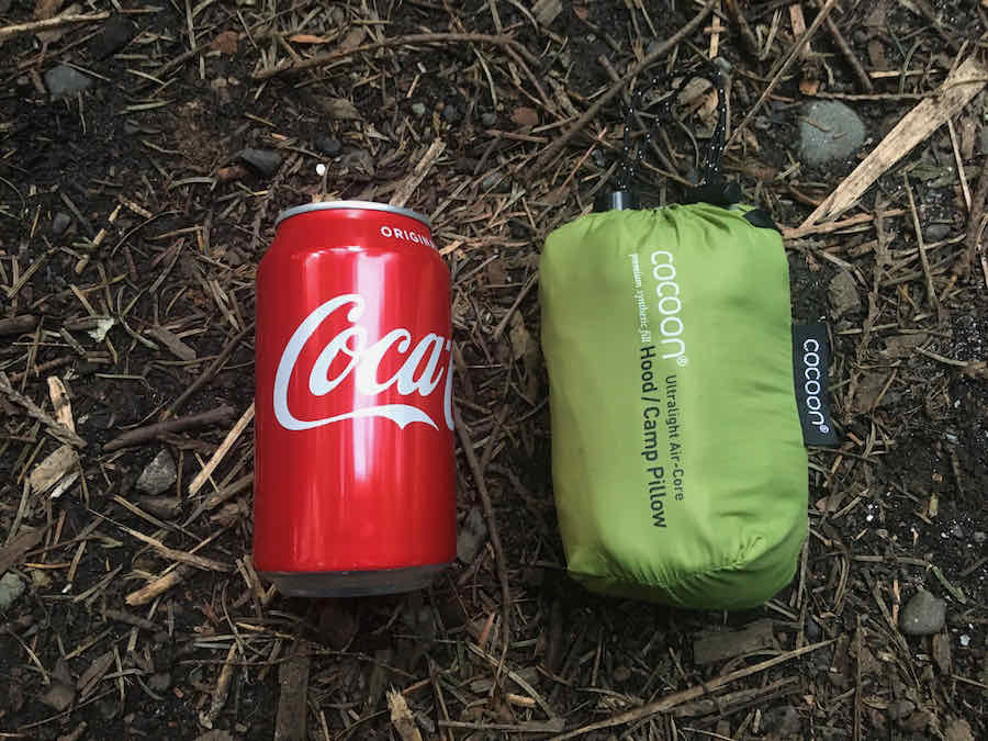 Cocoon Camp Pillow with Coca-Cola Can