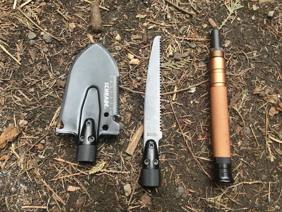 Schrade Shovel Saw blades and handle