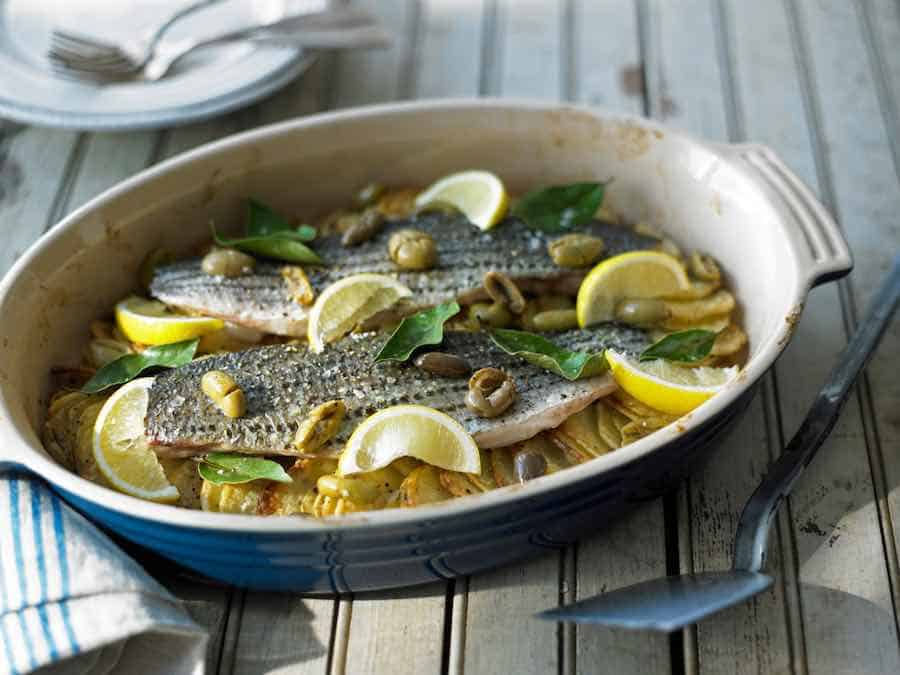Striped Bass With Lemon